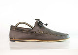 Gingers for Gentlemen CLOVELLY Grey leather deck shoe, made in Portugal.