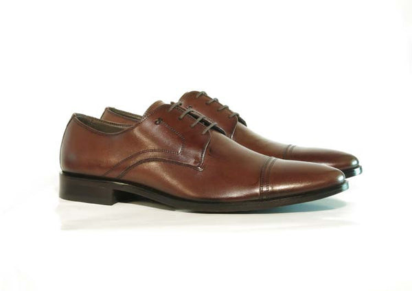 Gingers for Gentlemen COOPER brown leather derby, made in Brazil.