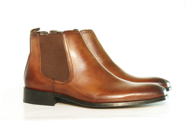 Gingers for Gentlemen DILLON brown leather Chelsea boot.