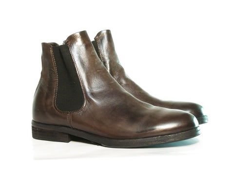 AS98 FREEWAY Brown chelsea boot, Italian leather.