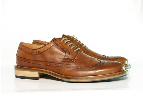 Gingers for Gentlemen GALLERY brown brogue, made in Italy.