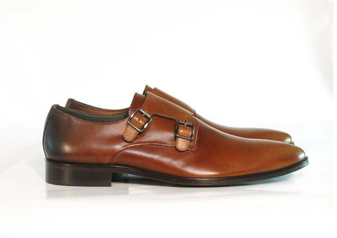 Gingers for Gentlemen HARDY brown leather double monk, made in Brazil