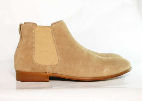 Gingers for Gentlemen HARROW 3 Beige Suede chelsea boot.