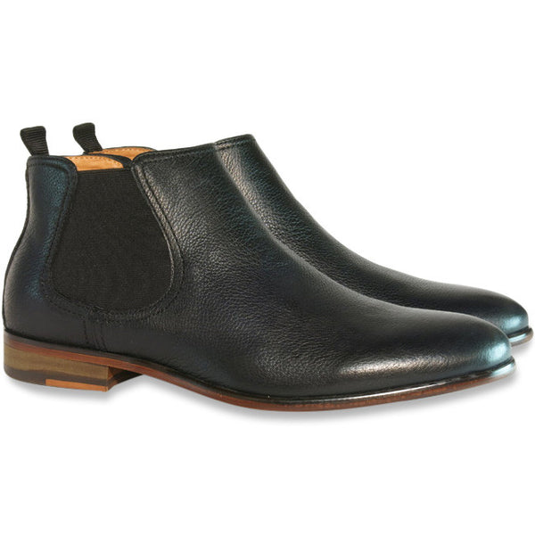 Gingers for Gentlemen HARROW 2 Black Leather Chelsea