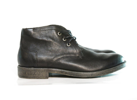 Brando by Mjus HOPPER Black leather lace up boot, Italian leather.