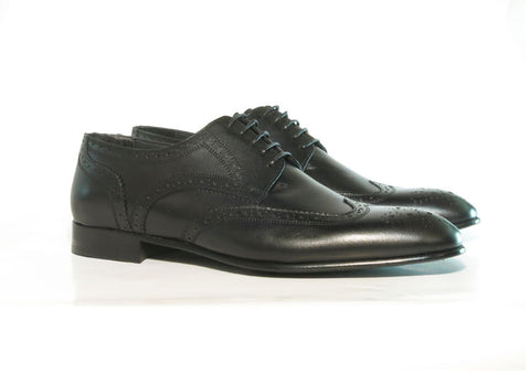 Gingers for Gentlemen MAISON black leather brogue