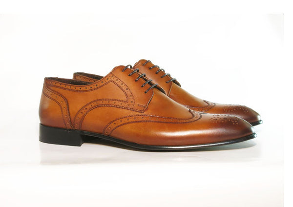 Gingers for Gentlemen MAISON tan leather brogue.