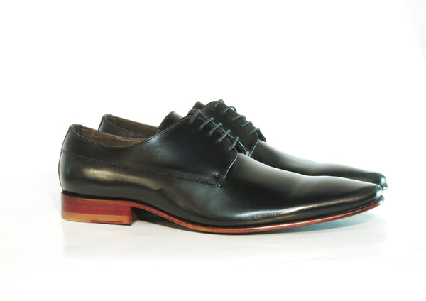 Gingers for Gentlemen MCCARTNEY black leather derby, made in Brazil