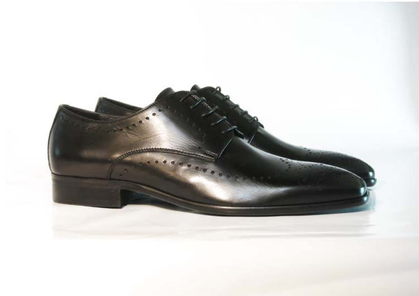 Gingers for Gentlemen MOTOWN black leather brogue, made in Italy.