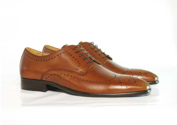 Gingers for Gentlemen MOTOWN brown leather brogue, made in Italy