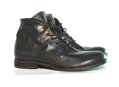 AS 98 NASHVILLE Black leather lace up, Italian leather.