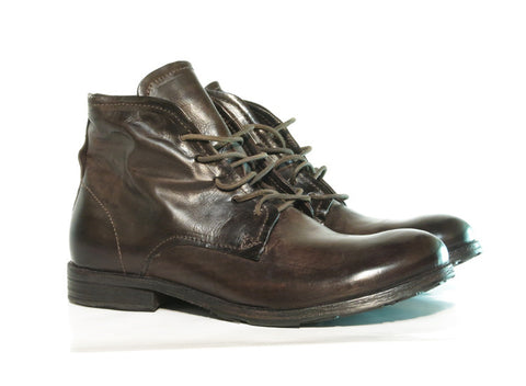 AS98 NASHVILLE Brown leather lace up, Italian leather.