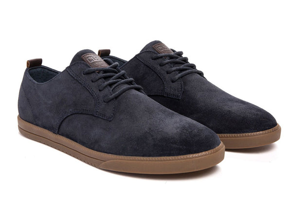 Clae Ellington Deep Navy Waxed Suede.