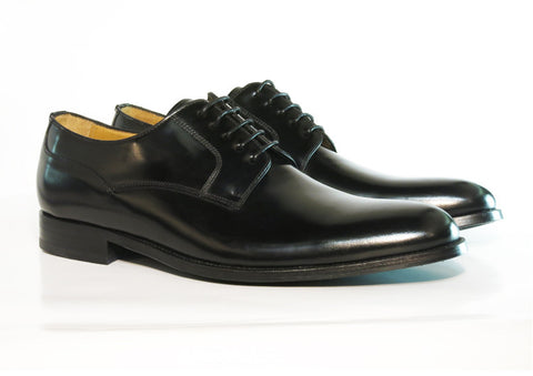 Gingers for Gentlemen PAGE Black Leather Derby, made in Spain