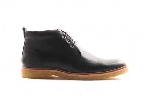 Royal Republiq CAST creep mid cut Black leather boot, made in Portugal.
