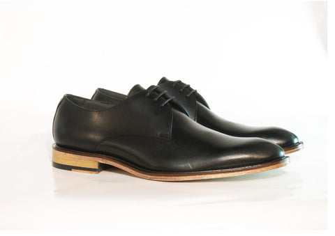 Gingers for Gentlemen REVOLVER black leather derby, Made in Brazil