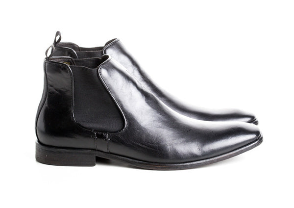 Gingers for Gentlemen REYNOLDS Black Leather Chelsea Boot