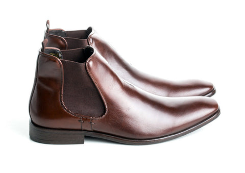 Gingers for Gentlemen REYNOLDS Brown Leather Chelsea Boot