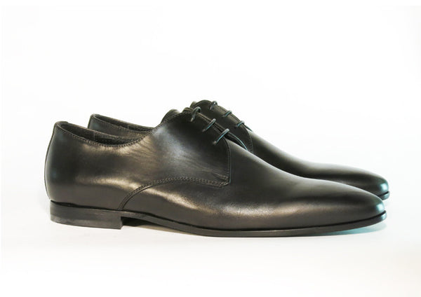 Gingers for Gentlemen SANTINO black leather derby, Made in Italy