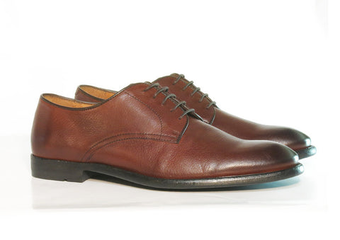 Gingers for Gentlemen SALOON brown leather derby, made in Portugal.