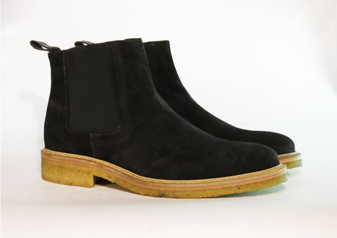 Beau Coops SPENCE black suede chelsea boot, Made in Italy
