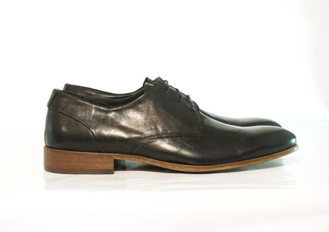 Gingers for Gentlemen TAMLA black leather derby, made in Italy.