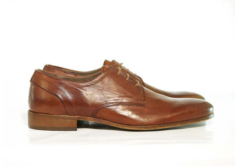 Gingers for Gentlemen TAMLA tan leather derby, made in Italy.
