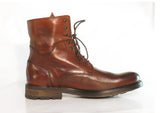 Gingers for Gentlemen CHEVY Burgundy leather lace up boot. Made in Portugal.