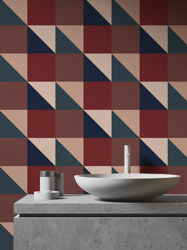 Jupiter10 geometric mid-century modern wallpaper Cambridge