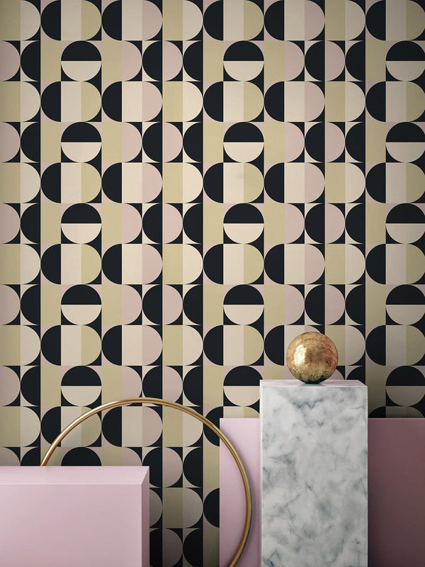 Jupiter10 geometric mid-century modern wallpaper Cannes