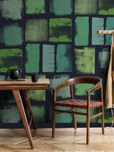 Jupiter10 geometric mid-century modern wallpaper Friedel I