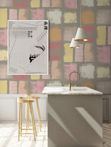 Jupiter10 geometric mid-century modern wallpaper Friedel II