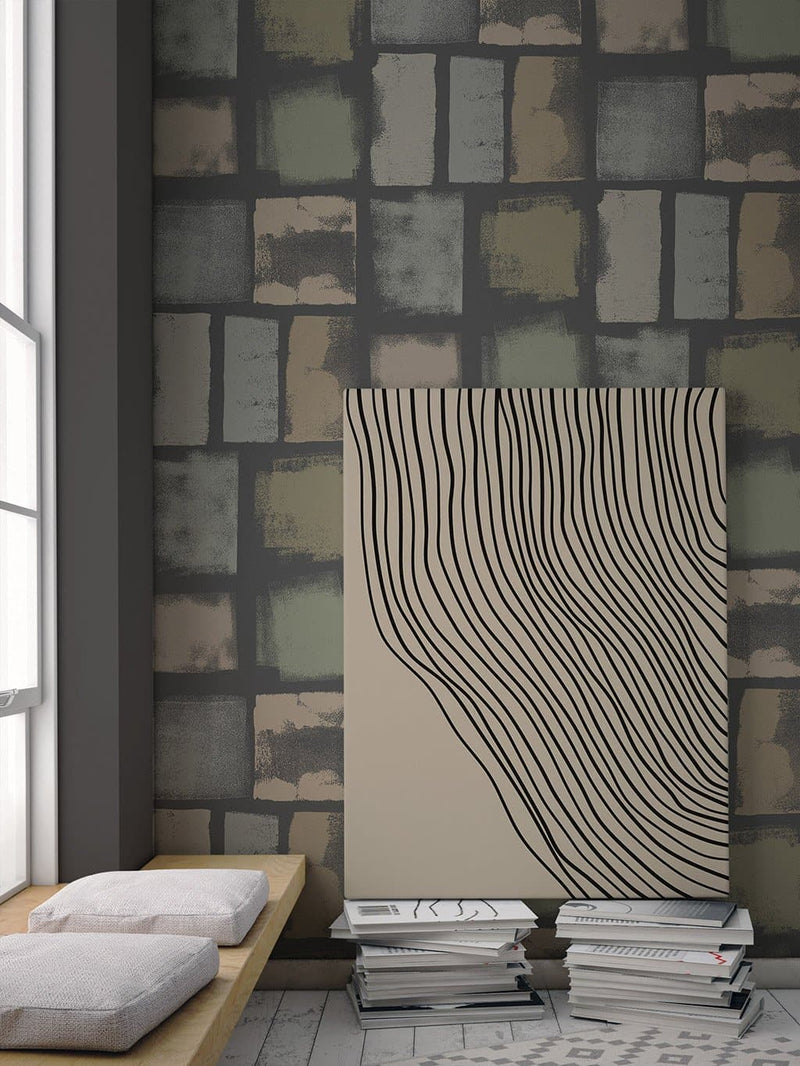 Jupiter10 geometric mid-century modern wallpaper Friedel IV