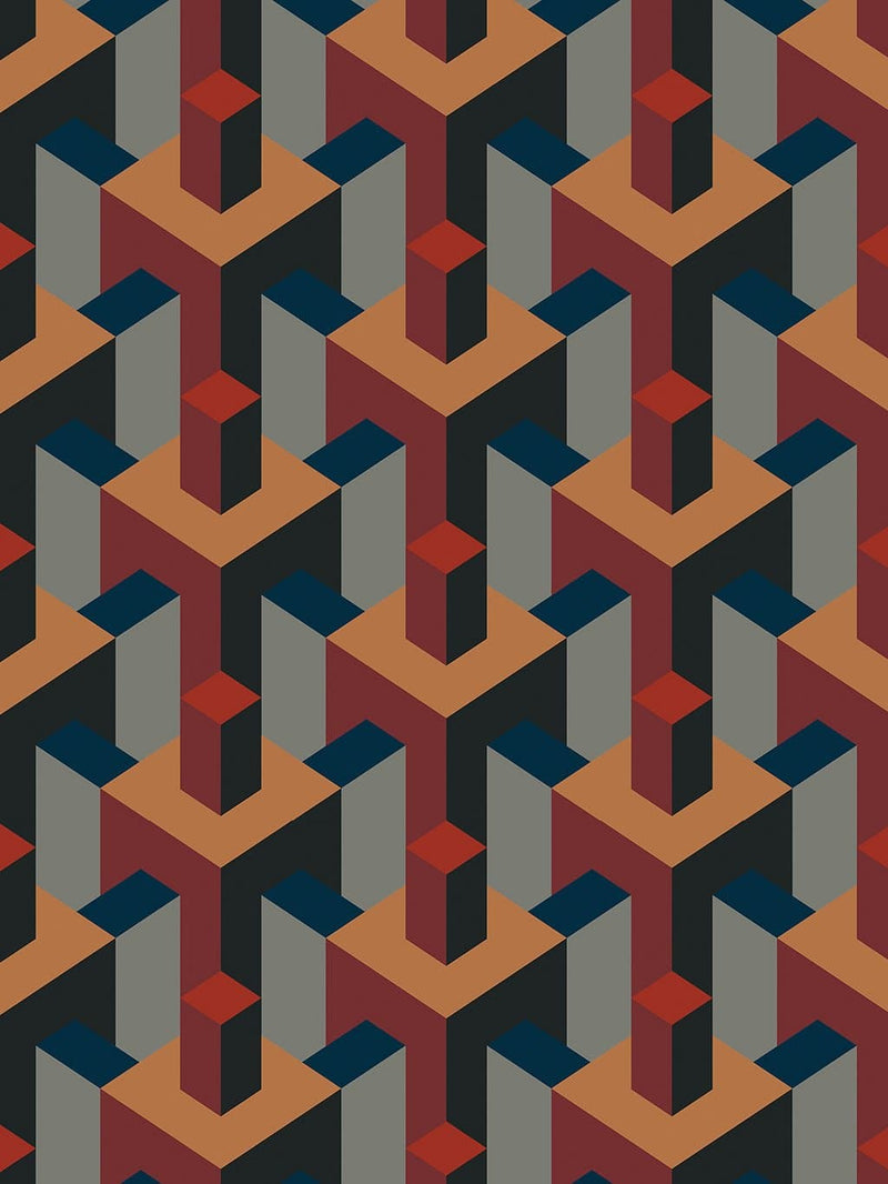 Jupiter10 geometric mid-century modern wallpaper Marrakech
