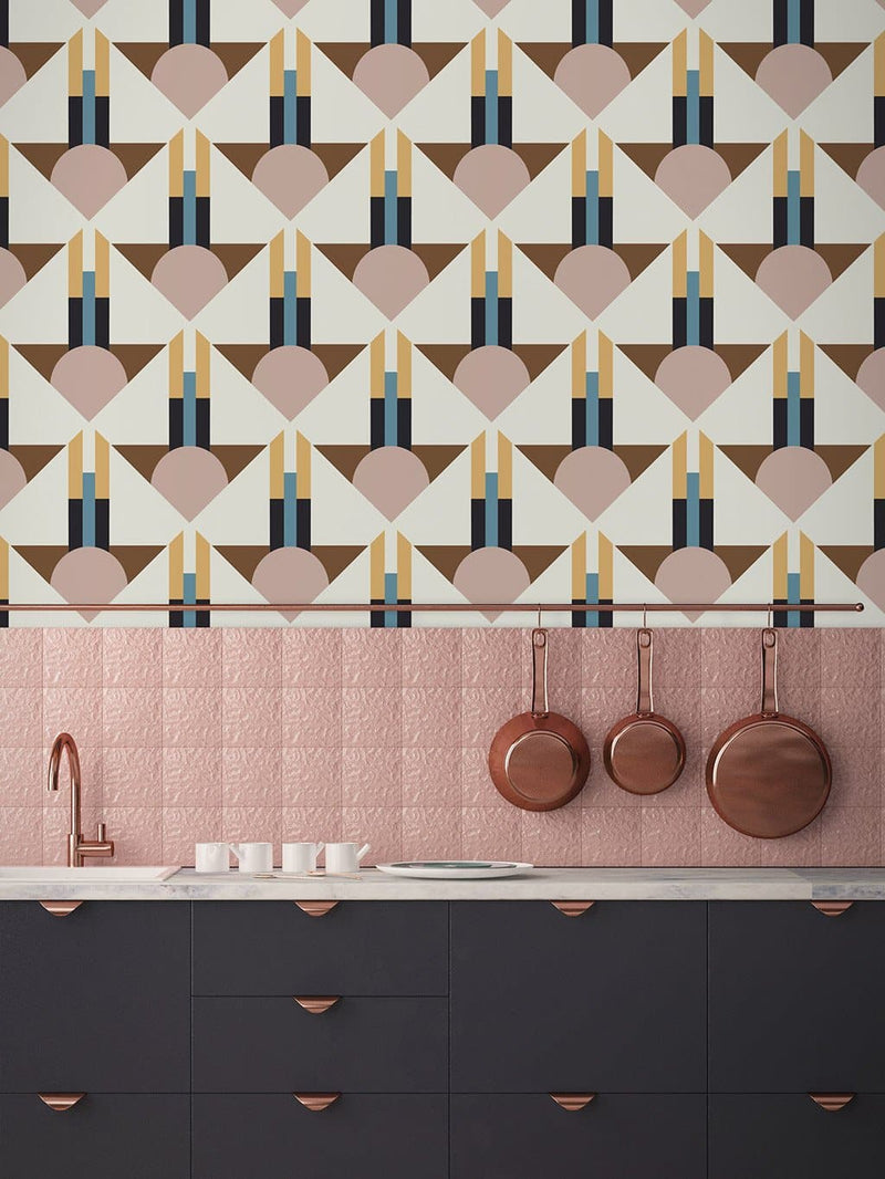 Jupiter10 geometric mid-century modern wallpaper Miami