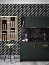 Jupiter10 geometric mid-century modern wallpaper Munich