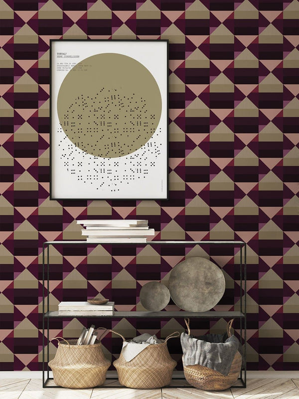 Jupiter10 geometric mid-century modern wallpaper New Delhi