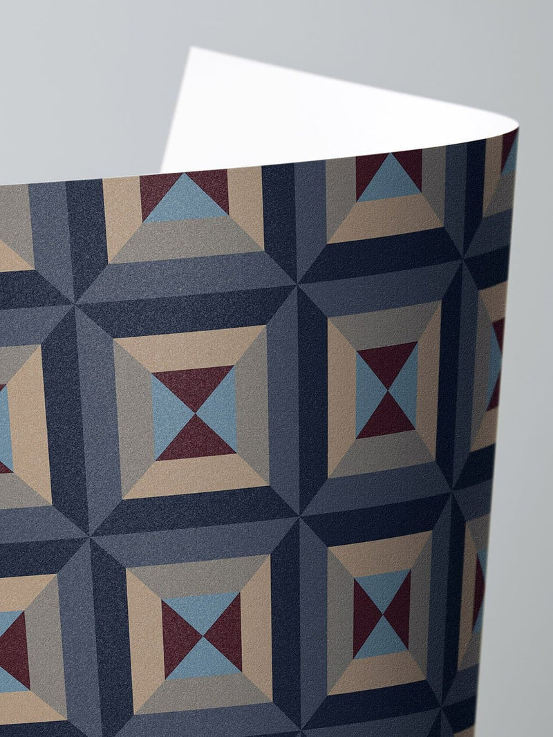 Jupiter10 geometric mid-century modern wallpaper Oxford