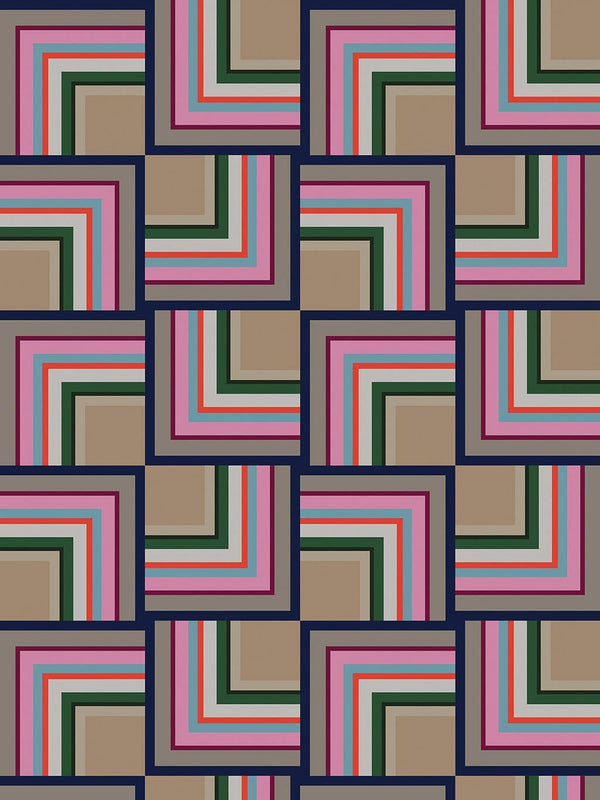 Jupiter10 geometric mid-century modern wallpaper Quito