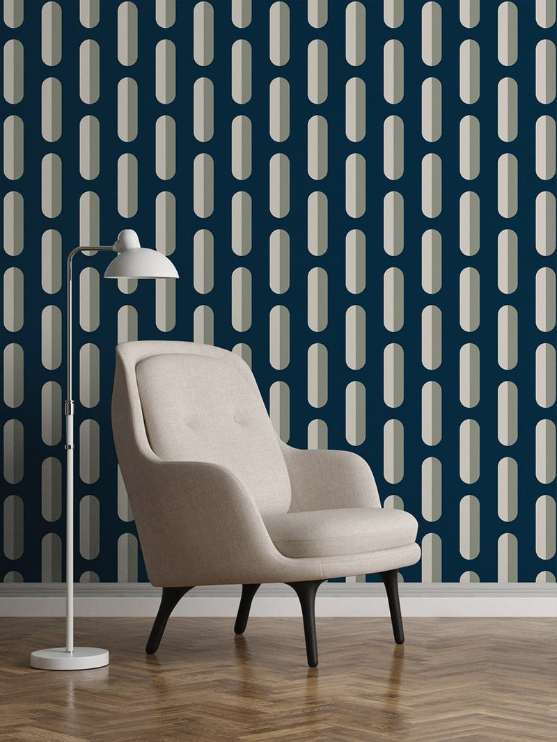 Jupiter10 geometric mid-century modern wallpaper Stockholm