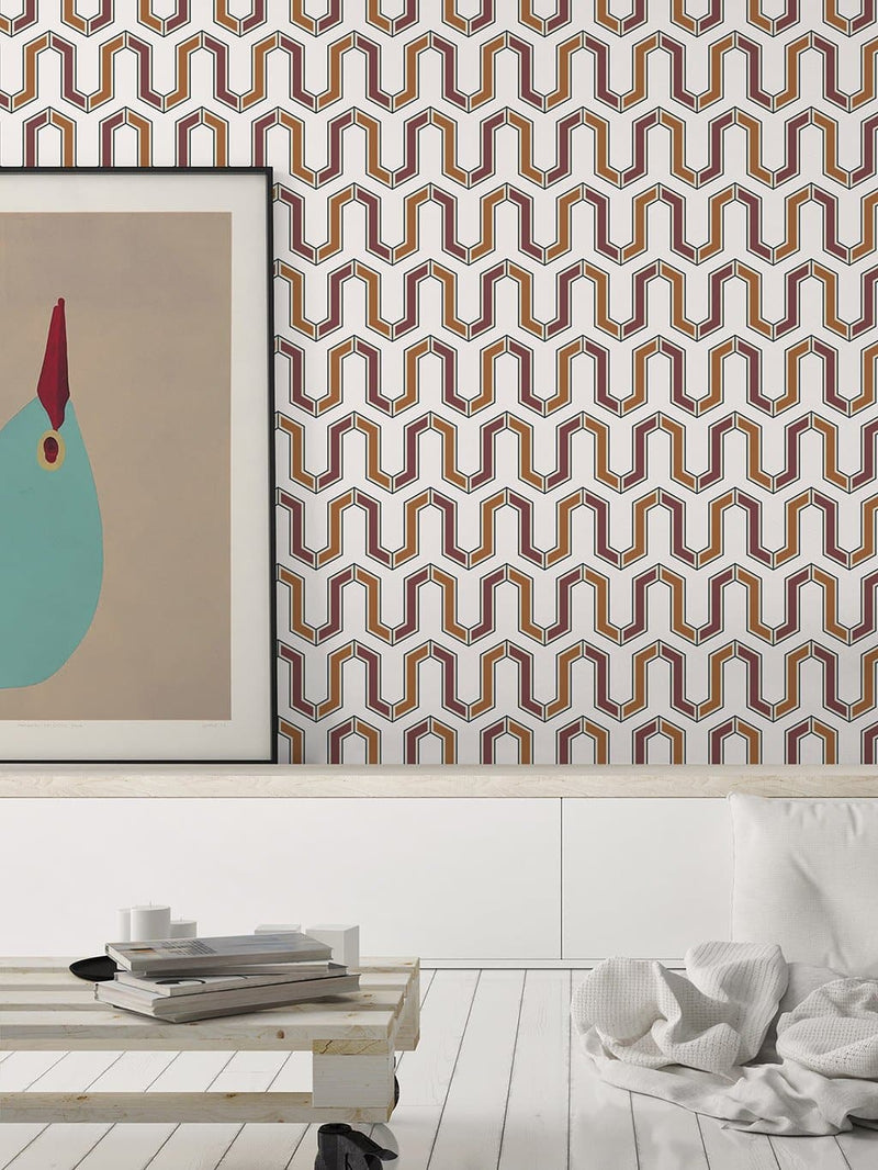Jupiter10 geometric mid-century modern wallpaper Tunis