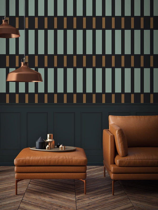Jupiter10 geometric mid-century modern wallpaper York