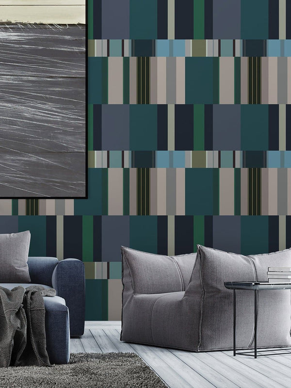 Jupiter10 geometric mid-century modern wallpaper Zac