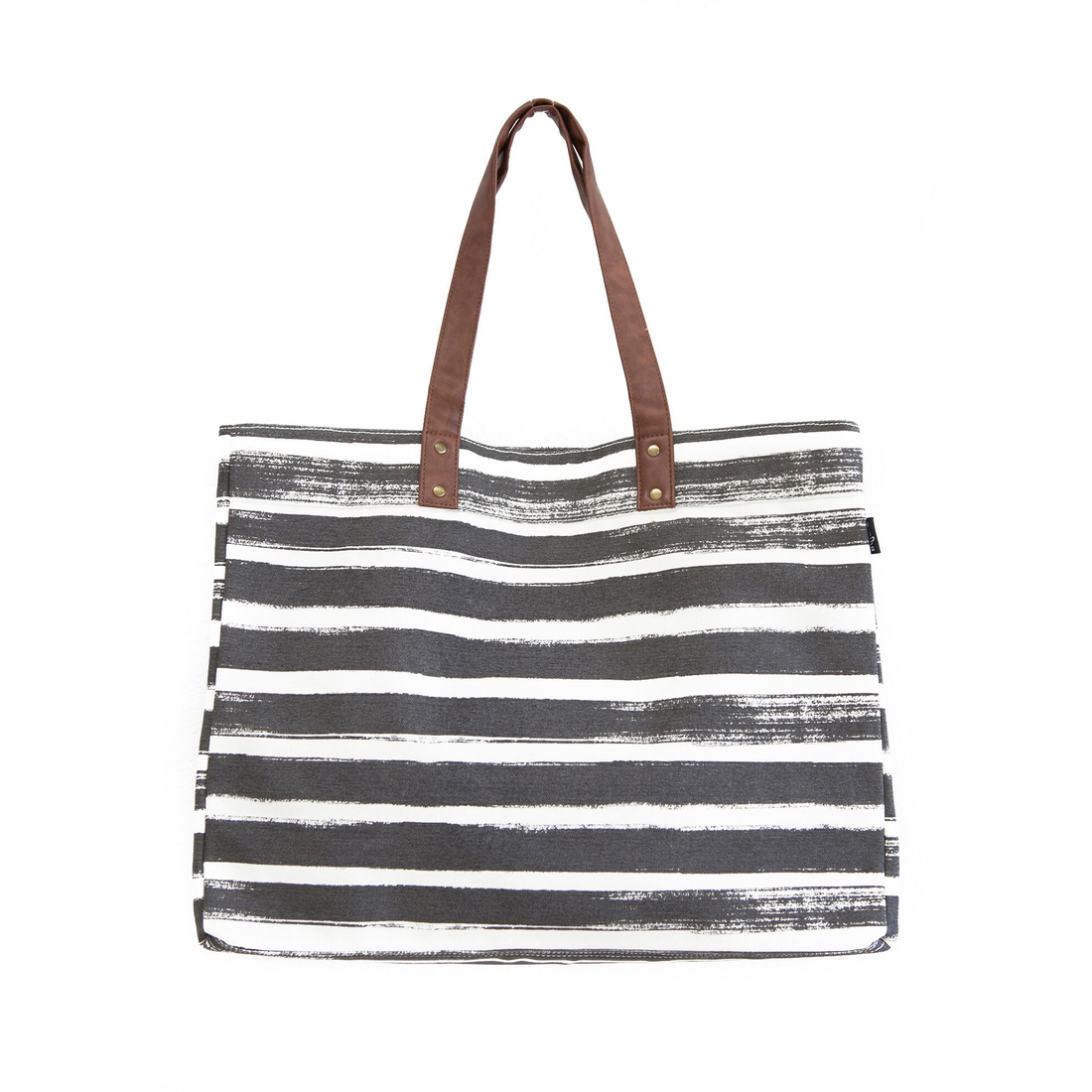 Carryall Tote Plus - Charcoal Stripe