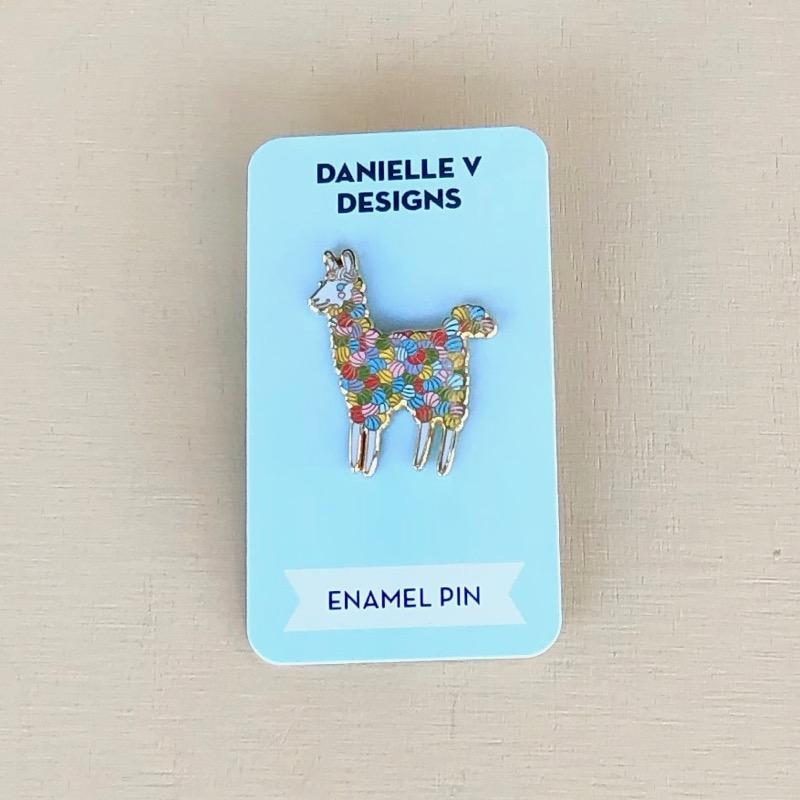 Colorful Alpaca Pin