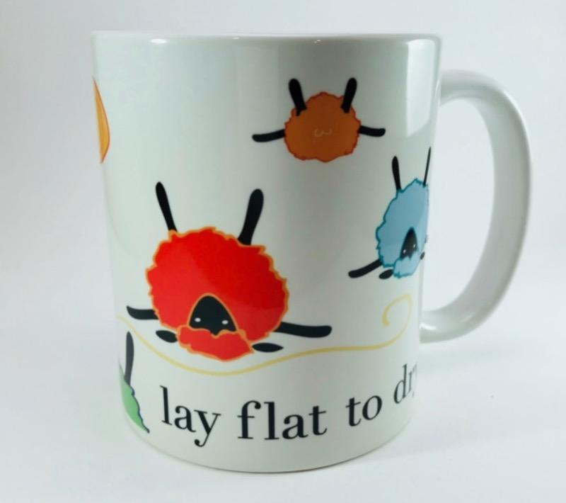 Lay Flat to Dry - 15 oz Ceramic Mug