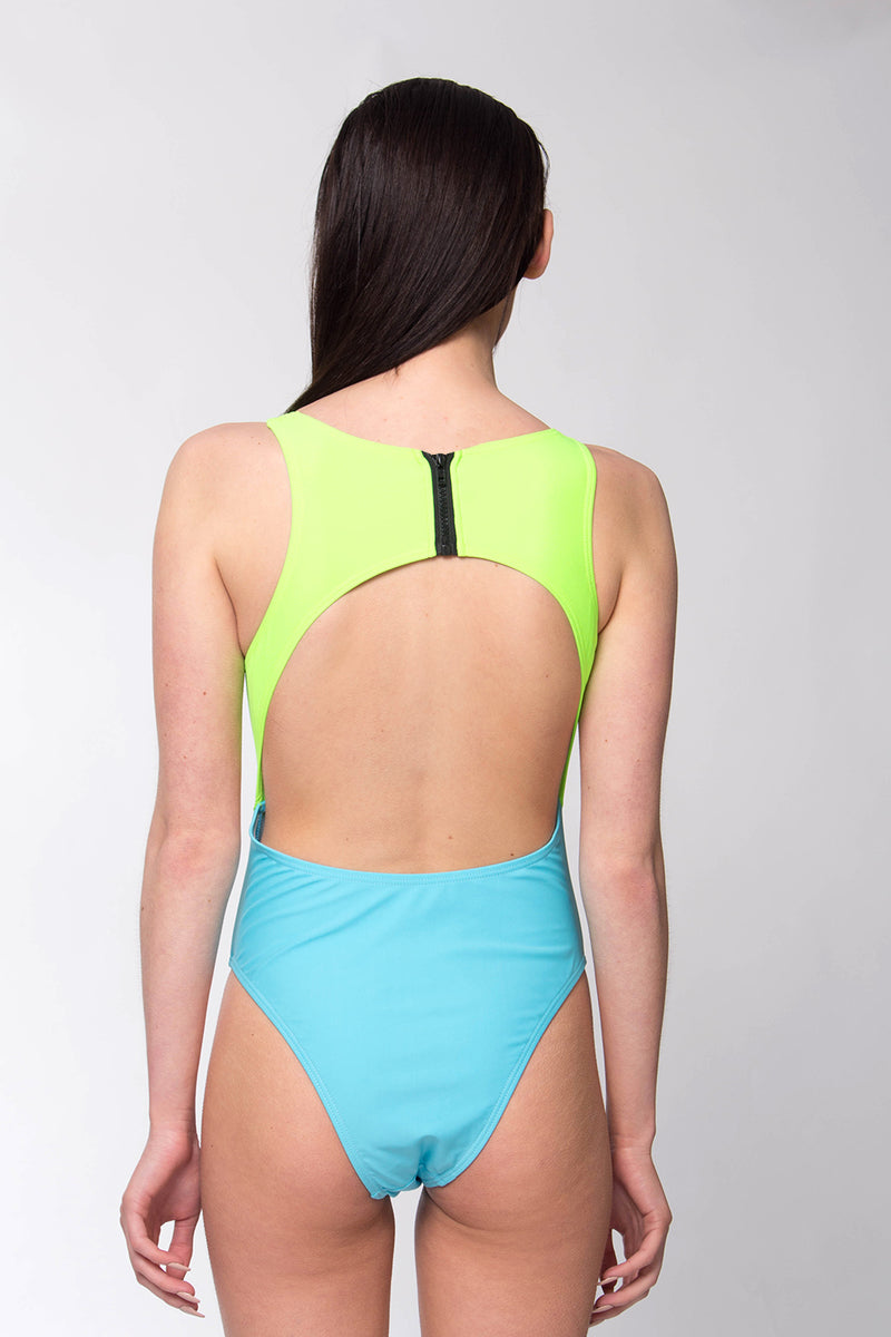 MIAMI CUT OUT HIGH CUT SWIMSUIT