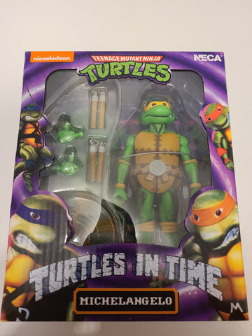 NECA - Turtle in Time - TMNT Michelangelo Figurine 7 pouces