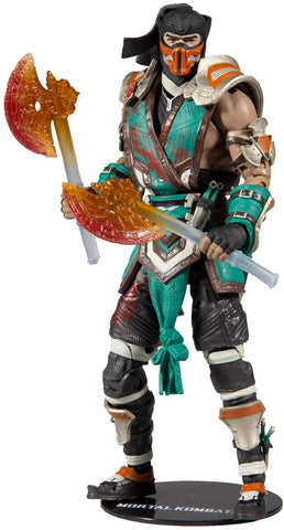 "McFarlane Toys Mortal Kombat Sub Zero Bloody Frozen Over Skin 7"" Action Figure, Multicolor"