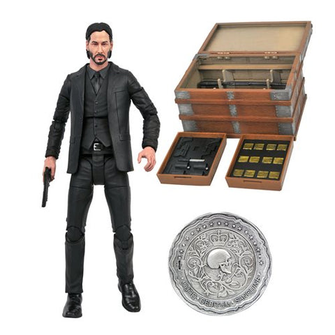 Figurine John Wick Deluxe With Deluxe Box Set